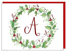 A Monogram - Winter Wreath Boxed Note Cards