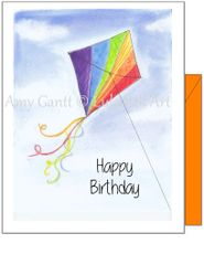 Birthday - Colorful Kite Greeting Card