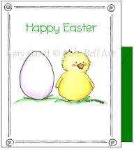 Easter - Chick and Egg Greeting Card