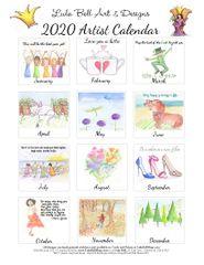 2020 Lula Bell Desk Calendar Refill