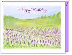 Birthday - Lavender Birthday Greeting Card