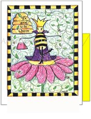 Get Well - Bee with Purse Greeting Card