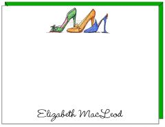 A Personalize - The Right Shoes Flat Cards