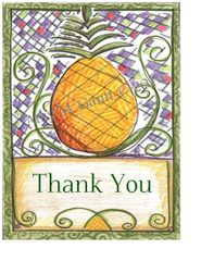 Thank You - Pineapple Boxed Note Cards