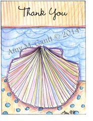 Thank You - Rainbow Beach Shell Boxed Note Cards