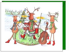 Christmas - Rockin Reindeer Greeting Card