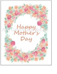 Mother's Day - Arch of Flowers Greeting Card