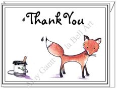 Thank You - Mr. Fox Boxed Note Cards