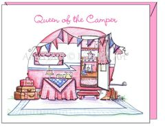Friendship - Pink Camper Greeting Card