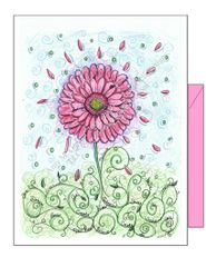 Thinking of you - Pink Daisy Greeting Card
