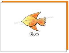 Coastal - Orange Fish Boxed Note Cards