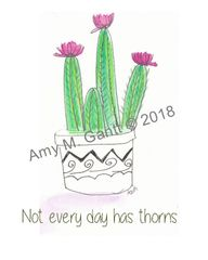 Cactus Thorns Note Cards