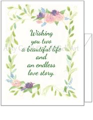 Wedding - Floral Wedding Greeting Card