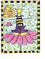 "Queen Bee ""It's good to be Queen"" Boxed Note Cards"