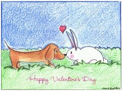 Valentine - Puppy Love Greeting Card