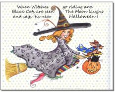Matilda the Witch Halloween Print