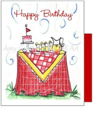 Birthday - Lemonade in the Sun Greeting Card