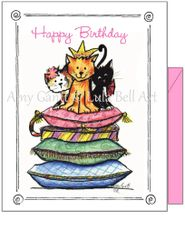 Birthday - Cat's Rule Greeting Card