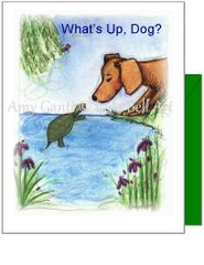 Friendship - Dog and Turtle Greeting Cards