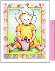 Baby - Baby in the Gardne Greeting Card