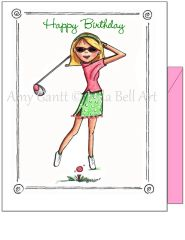 Birthday - Queen of the Green Greeting Card