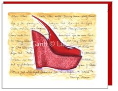 Encouragement - Red Wedge Greeting Card