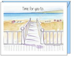 Retirement - Beach Walk Greeting Card