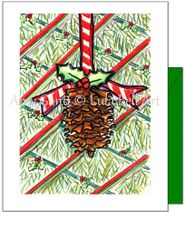Christmas - Pinecone Greeting Card