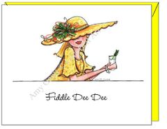 Birthday - Fiddle Dee Dee Greeting Card