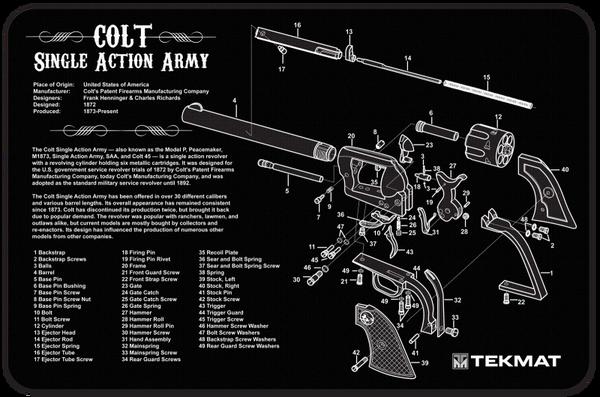 Colt Single Action Army 45 Revolver Cutaway Diagram