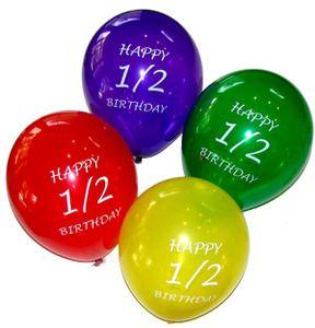 Half Birthday Party Kits Supplies Balloons