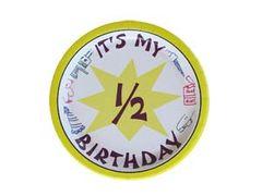 Half Birthday Plates