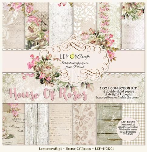 Lemoncraft House Of Roses Collection 12x12 Paper Set