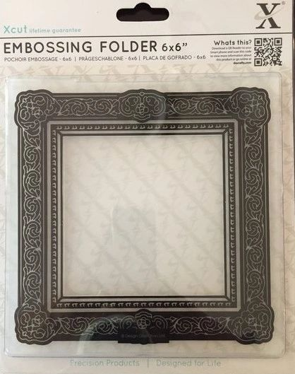 Docrafts X Cut Embossing Folder 6 X 6 Square Gilt Frame