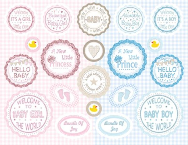 Craft creations die cut round greeting banners new baby craft creations die cut round greeting banners new baby m4hsunfo