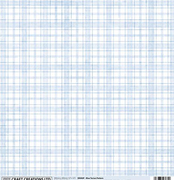 5af8d29eeb1a48 Craft Creations UK 12 x 12 Paper  Baby Blue Plaid