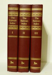 Raswan Indexes A Handbook for Arabian Breeders by Carl Raswan Limited edition 3 vol. set