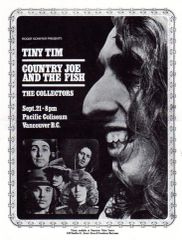 Tiny Tim, Country Joe and the Fish handbill