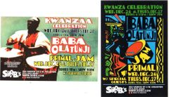 Pair of Baba Olatunji Kwanzaa postcards