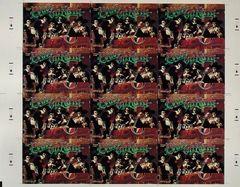 Grateful Dead Christmas postcard uncut sheet