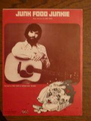Junk Food Junkie sheet music 1975 Rick Griffin art