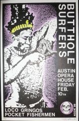 Butthole Surfers - Austin Opera House - Frank Kozik 1989