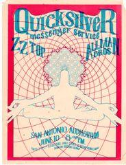 Quicksilver Messenger Service San Antonio handbill 1971