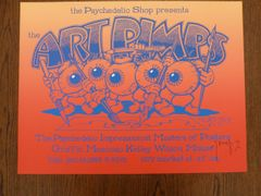 ART PIMPS - 1988 silkscreen poster Stanley Mouse signed