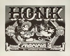 Honk, Manna (poster) - Rick Griffin 1975