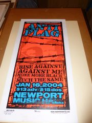 Anti-Flag - Newport Music Hall 2004 silkscreen