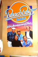 Beach Boys 25th Anniversary Tour poster 1986