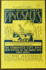 Dinosaurs record release party - poster 1988