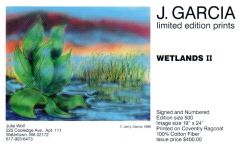 Jerry Garcia - Wetlands II - postcard