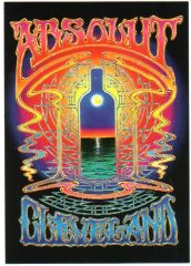 Absolut Cleveland postcard by Alton Kelley 1998